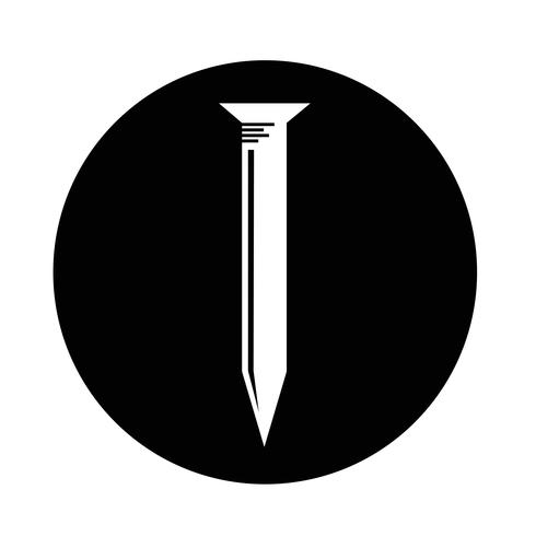 Metallnagel-Symbol