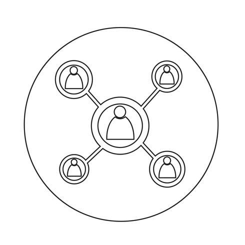 Icona di rete vettore