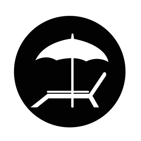 icône de chaise de plage