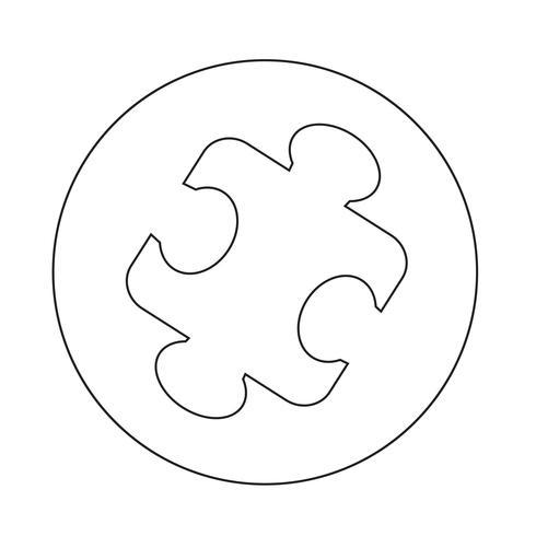 icona di puzzle vettore