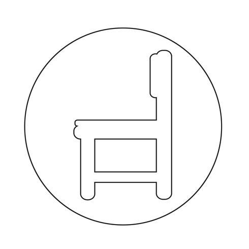 Icono de muebles de silla