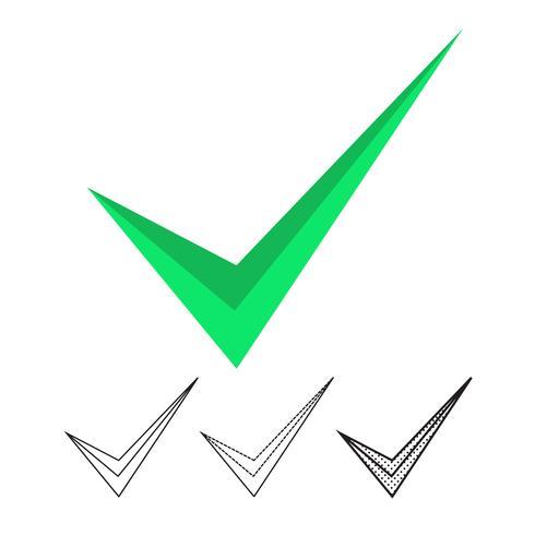 Vector icono de marca de verificación