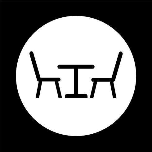 Icône table et chaises
