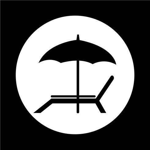 icono de silla de playa