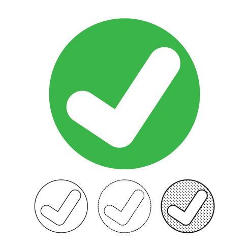 Segno di spunta sull'icona vettoriale