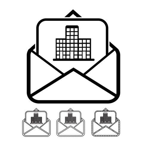 correo electrónico y vector de icono de correo