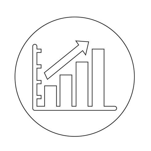 ícone de gráfico de diagrama