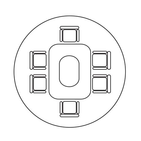 Icona della tabella di affari di Conferance