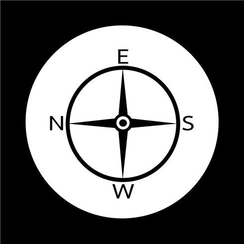Icono de brújula de dirección