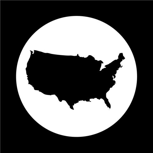 USA map icon - Download Free Vectors, Clipart Graphics ...