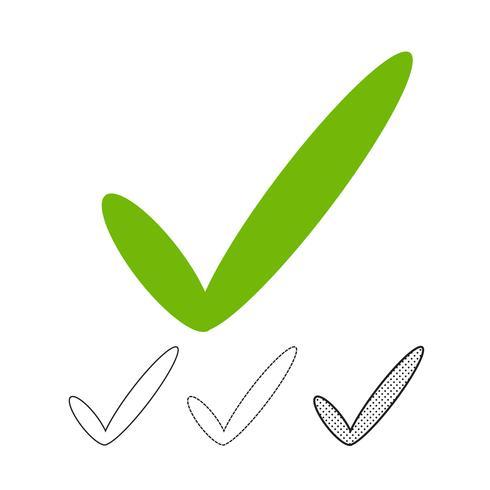 Häkchen-Symbol Vektor