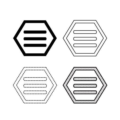 Vecteur d'icônes de menu