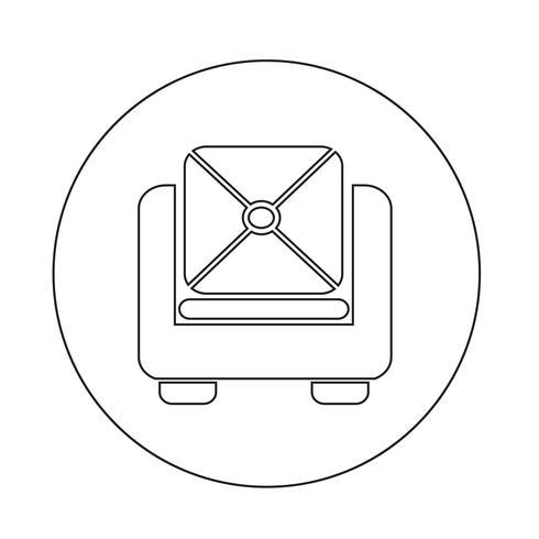 icono de sofá de muebles vector