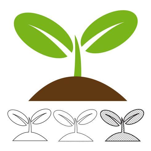 Vector icono de planta