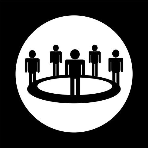 Ícone de equipe de pessoas vetor