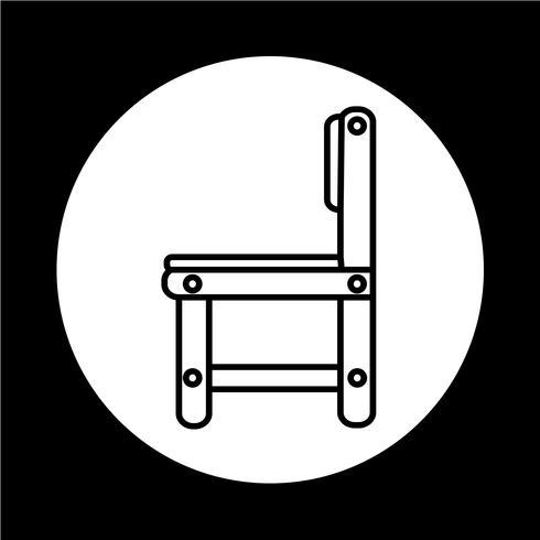Ícone de mobília de cadeira vetor