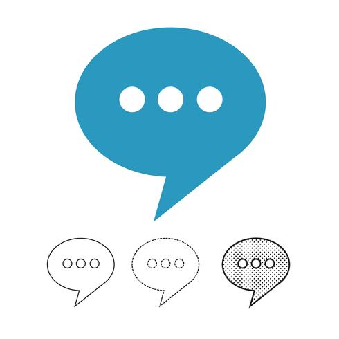 speech bubble chat vector icon