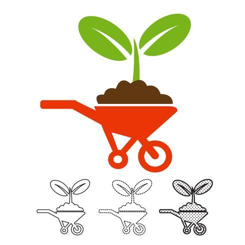 vecteur d'icône plante
