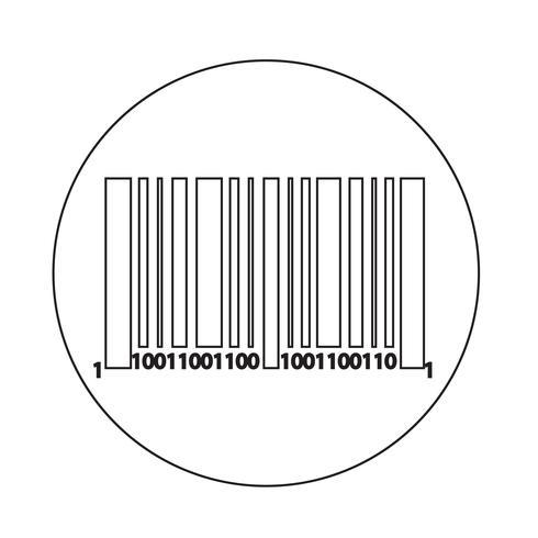 Icona del codice a barre vettore