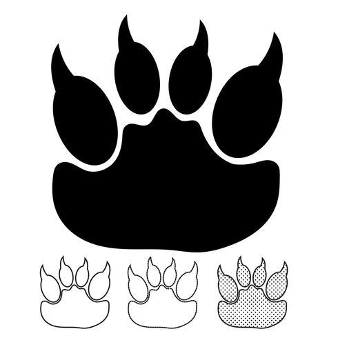 Huella animal icono vectorial
