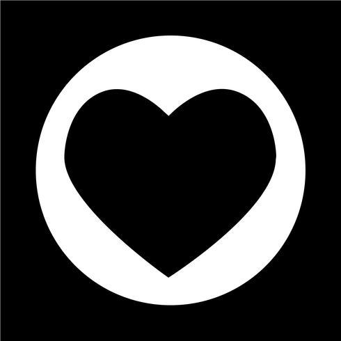 Ícone de coração vetor