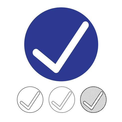Vinkje pictogram vector