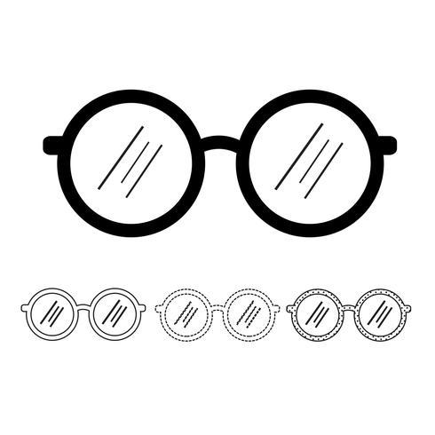 Vector icono de gafas