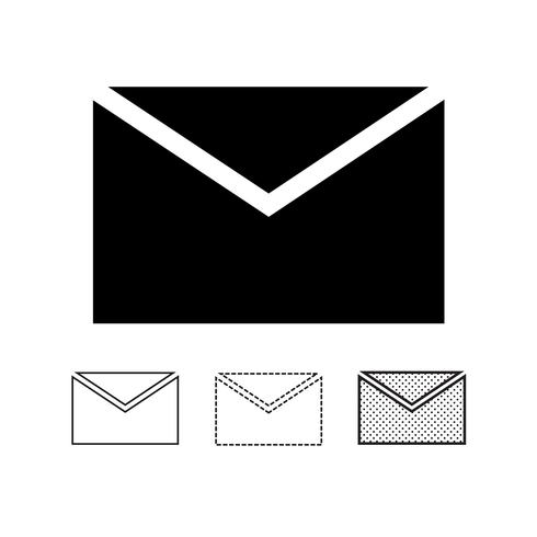 e-mail mail pictogram vector