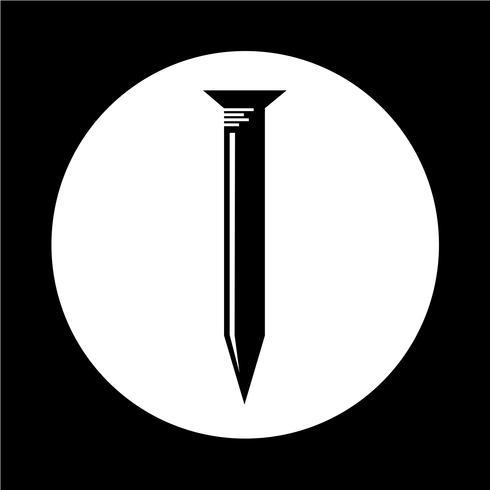 Ícone de unha de metal vetor