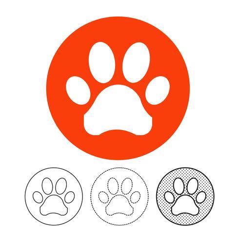 Impronta animale vettore icona