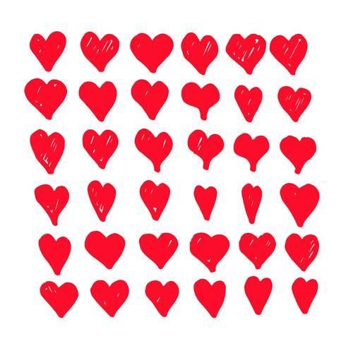 hand tekenen harten pictogram ontwerp