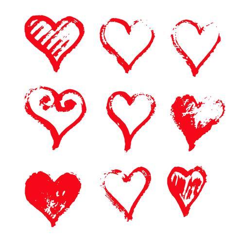 Desenho de ícone de coração desenhado de mão