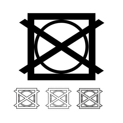 vetor de ícone de símbolo de lavandaria