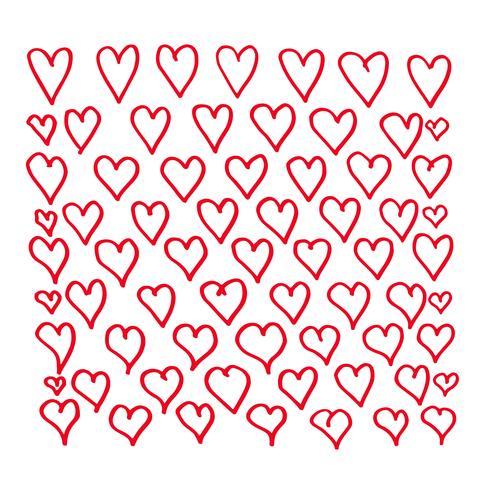 Hand zeichnen Herzen Icondesign
