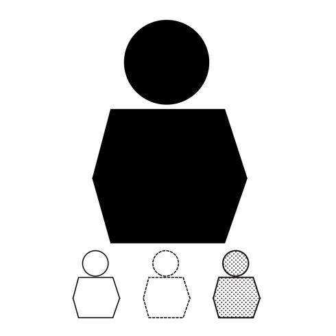 Icône de vecteur de personnes