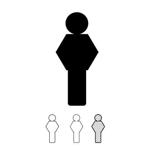 Mensen vector pictogram