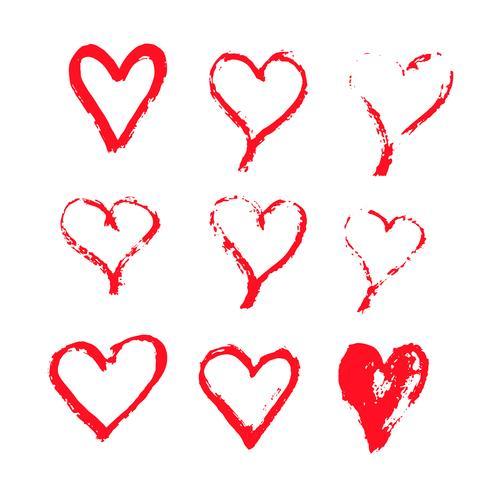 Diseño de icono de corazón dibujado a mano vector