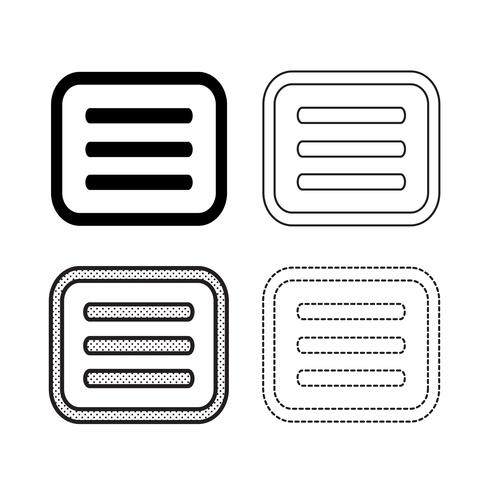 Vector de iconos de menu