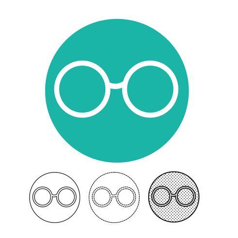 Glazen pictogram vector