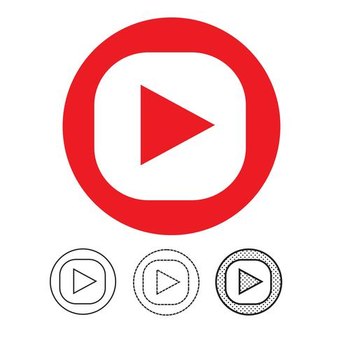 knop video speler pictogram