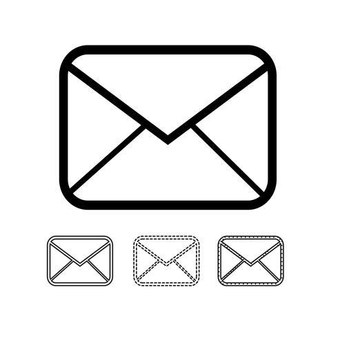 courrier électronique icône vecteur