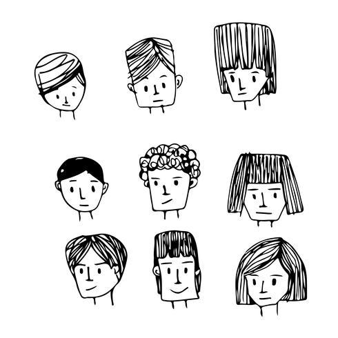Mensen worden geconfronteerd met cartoon icoon