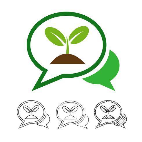Plant tree icon vector