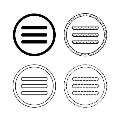 Vettore delle icone del menu