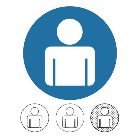 Icono de vector de personas