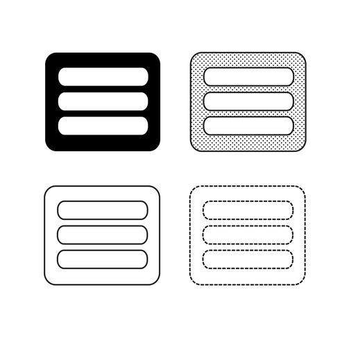 Vetor de ícones de menu