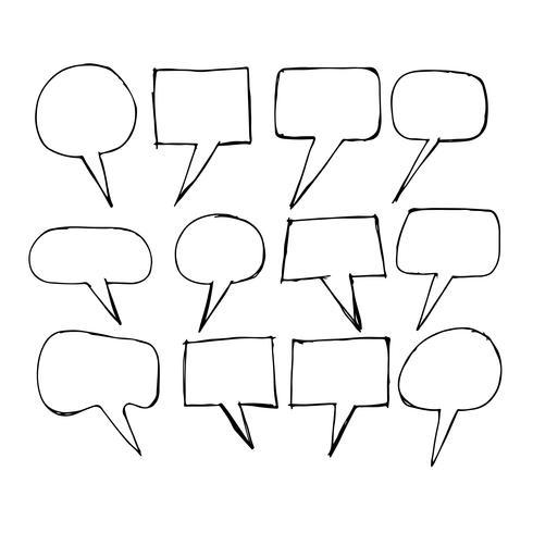 Speech Bubble icon hand drawn
