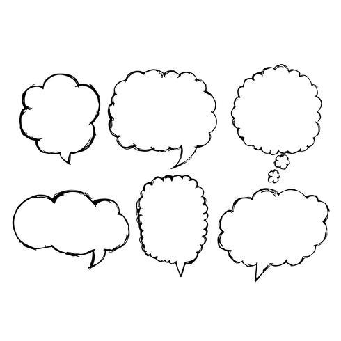 Toespraak Bubble pictogram hand getrokken