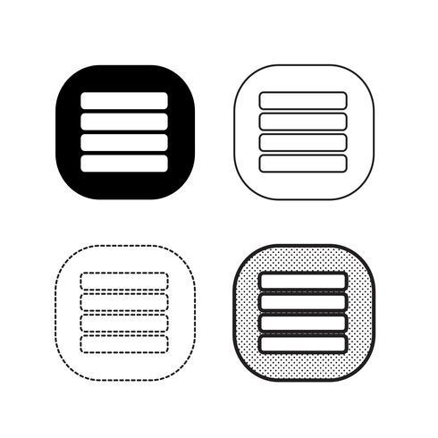 Vector icono de menu