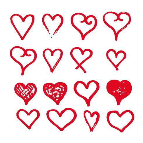 heart icon design hand draw